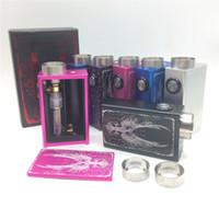 100% autentico fuoco Phoenix Squonk Mod Box con 4ml Succo liquido di stoccaggio Bottiglie di vetro Bottom Feed 18650 Mod meccanico della batteria