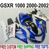 Carenature moto ABS per SUZUKI GSXR1000 K2 2000 2001 2002 blu bianco nero GSX-R1000 00 01 02 carenatura plastica YR15