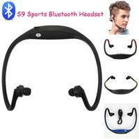 Casque S9 Bluetooth Casques Sport sans fil tour de cou stéréo Écouteur Lecteur de musique Hi-Fi intra-auriculaire avec emballage de vente au détail pour iPhone 6 / S Samsung