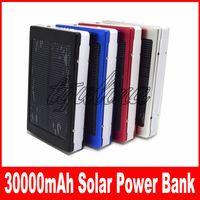 30000 mah chargeur solaire et batterie 30000mAh panneau solaire double ports de chargement banque d'alimentation portable pour tous les téléphone portable table PC MP3