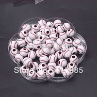 Wholesale- Free shipping Chunky beads, Popular Acrylic Basebal...