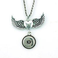 Fashion Pendants Necklaces Infinity Chains Wing 18mm Interch...