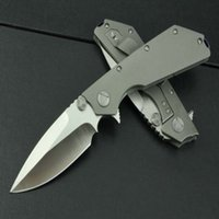 Newer High- end mic titanium handle knife camping hunting kni...