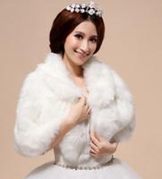 Giacche da sposa da sposa bianca bianca di lusso Giacche da sposa Faux Furs Inverno Accessori Bridal Accessori Collare Convedere Spedizione gratuita 2016