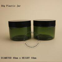 50 мл грамм пустая пластиковая банка с крышкой косметическая упаковка макияж бутылка горшок для Маска для лица Крем для рук контейнеры