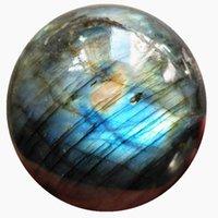 1 peça de Alta qualidade rocha natural arco-íris colorido labradorite quartzo bola de cristal bola cura esfera mágica para decoração de casa