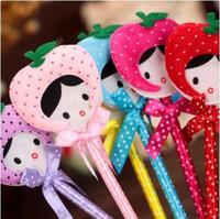 офис школьные товары поставщик милый мультфильм плюшевые шариковая ручка/прекрасный шариковая ручка для детей подарок приз 24 шт./лот ARC132