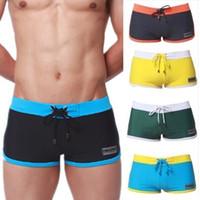Swimwear del mens costumi da bagno degli uomini sexy camion di nuoto estate bikini pugili degli uomini Pantaloncini da bagno spiaggia del mare Uomini costumi da bagno Nuovo