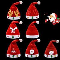 Рождество Санта-Клаус шляпы красный и белый колпачок партии шляпы для детей взрослых Рождество шляпа рождественские украшения партии