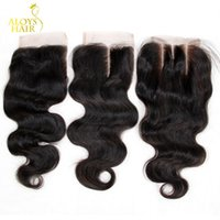 Free Middle 3 Part Brazilian Body Wave Lace Closure Grade 6A...