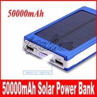 熱い販売高品質GPS MP3 iPadの携帯電話のためのバッテリー50000 Mahの太陽の充電器のバックアップバッテリー50000 Mahの太陽充電器送料無料