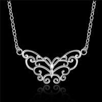 Nette hängende Halskettenart und weiseschmucksache-Hochzeitsfestgeschenke des Entwurfs 925 Sterlingsilberschmetterlings für Frauen geben Verschiffen frei