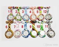 Nieuwe siliconen verpleegster zakhorloge snoep kleuren zebra luipaard prints zachte band broche verpleegster horloge 11 patronen hete verkoop