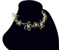 2015 빈티지 스타일 Chokers 목걸이 유럽과 미국의 새로운 패션 꽃 여성 목걸이 세련된 합금 목걸이 무료 배송