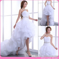 Cheap A Line High Low Wedding Dresses Best Reference Images 2015 Spring Summer Corset
