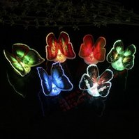 Colorful LED lights flash butterfly butterfly fridge magnet ...