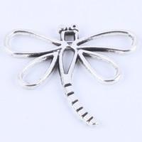 Nouveau mode argent / cuivre rétro libellule pendentif Fabrication bricolage bijoux pendentif fit collier ou bracelets charme 200pcs / lot 5525w