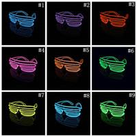 El Tel Neon LED Işık Up Shutter Parti Gözlük Aydınlatma Klasik Parlak Işık Festivali Gözlük 100 adet OOA3787
