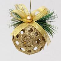 Полые Рождественский бал рождественская елка украшения 8 см украшения дома рождественские шары красный и золотой высокой gradeTree кулон