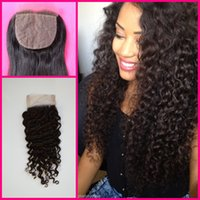 Malaysian virgin Silk Base Closure deep curly deep Wave Unpr...