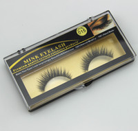 Premium Quality Falso Cílios Natural Handmade Longo Thin Mink Pele Eyelashes Soft Fake Eye Lash extensões Black Terrier Full Strip Lashes