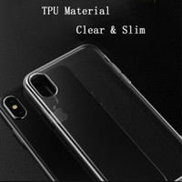 For iPhone X 1mm Ultra Thin Slim Transparent Clear Soft TPU ...
