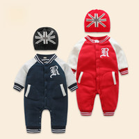 Baby Rompers Winter Thick Warm Baby boy Clothing Long Sleeve...