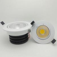 Dimmable LED vertiefte Downlights einstellbar COB-Deckenleuchte 3W 5W 7W 10W 15W für Küchenhaus 110V 220V Freies Verschiffen
