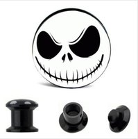 Acrylic Nightmare logo ear plugs mix 8 size body jewelry for...
