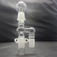 Zwei Joint Größe Glas Öl Reclaimer Kit mit 90 Grad Joint 18mm oder 14mm Joint optional für Wasserbongs Glaspfeifen
