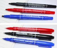 بطل اللوحة أقلام هوك خط القلم للماء colorfast cd ماركر القلم 2 رؤساء الزيتية فن الرسم ماركر أقلام wtitting القلم الأحمر الأزرق الأسود