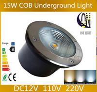 Commercio all'ingrosso 15W COB ha condotto la lampada sotterranea ha condotto la luce sotterranea impermeabile IP68 AC85V-265V CERoHS bianco caldo o freddo