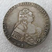 Toptan 1754 Rus 1 Rublesi kopya Para Gümüş Kaplama imalat kopya para Fabrika Fiyat güzel ev Aksesuarları Gümüş Paraları