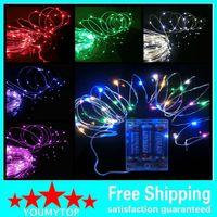 Pil Gücü Kumandalı LED Bakır Gümüş Tel Peri Işıkları Dize 50 LEDS 5 M Noel Noel Ev Partisi Dekorasyon Tohum Lambası Açık