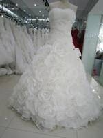 Real Image Spring 2021 великолепные белые цветы Свадебные платья Vintage Милая Свадебные платья с кружевом Up линия Часовня Поезд Arabic