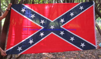 50pcs 150*90cm Confederate Battle Flags Two Sides Printed Co...