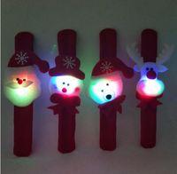 Christmas Patting Circle Bracelet 시계 크리스마스 어린이 선물 산타 클로스 눈사람 사슴 새해 파티 장난감 손목 Decorationclap 반지