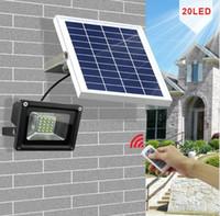 10W 20 개의 LED 실외 방수 디 밍이 가능한 태양 홍수 빛 거리 조명 정원 / 게시판 / 테라스 / 수영장 / 주차장 LLFA에 대한
