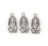 Сплав религия Таиланд Ганеша Будда подвески античный серебряный бронзовый подвески кулон для diy ожерелье ювелирных изделий выводы 14x27mm