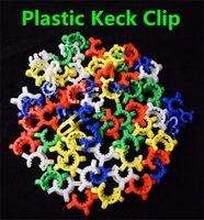 Pupular 10mm 14mm 19mm En Plastique Keck Clip Laboratoire Pince Pince En Plastique Serrure En Verre adaptateur pour Verre Bong Nectar Collecteur