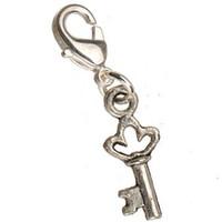 Поделки подвески оптовые браслеты ожерелья подвески подвески старинные серебряные металлические маленькие ключи с застежками ювелирных изделий ручной работы новые 300 шт.