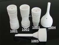 DHL Best 14mm 18mm domeless Ceramic Nails with male female g...