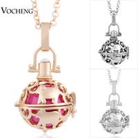 VOCHENG Baby Chime Harmony ювелирные изделия 3 цвета медь матал Пандент Ангел мяч ожерелье с цепью из нержавеющей стали VA-014