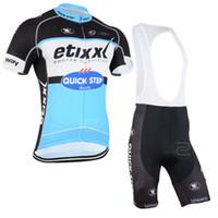 2015 ETIXX 빠른 단계 프로 팀 블루 Q33 짧은 소매 사이클링 여름 여름 사이클링 착용 로파 CICLISMO + BIB SHORTSGEL 패드 크기 설정 : XS-4XL