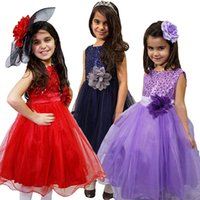 10 Colors Girls Party Sleeveless Tutu Kids Gown Baby Prom Dr...