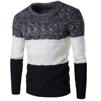 New Style Men Winter Pullover Sweater Brand Knitting Long Sleeve O-neck Slim Korean Fashion Clothes Men Sweater M-2XL