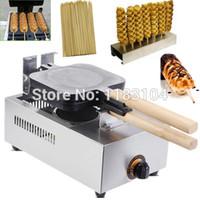 3 in 1 lpg gas französisch heißer hund lolly waffel maker maschine bäcker + waffel stick halter + bamboo stick