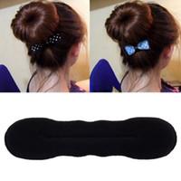 hair band bun maker simple black sponge creative for Women Hair Accessories headwear holder bun bang DIY