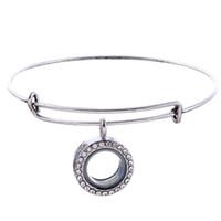 Braccialetto di moda per signore Alex braccialetto magnetico braccialetto di memoria vivente di cristallo magnetico per regalo di fascini galleggianti br-1442