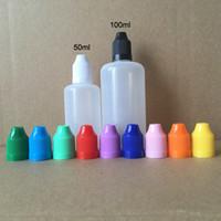 빠른 배송 50ml 100ml PE E 액체 빈 병 Plastic Soft Dropper 병 Childproof Caps 긴 얇은 바늘 팁 전자 Cig 병